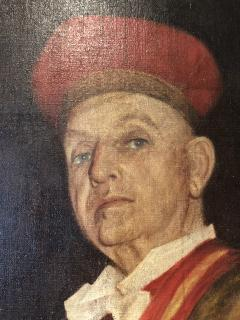 Chevalier du Tastevin Enormous French Oil on Canvas - 1195169