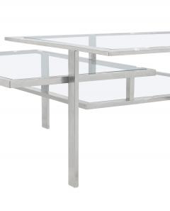 Chic 3 Level Chrome And Glass Coffee Table   139876