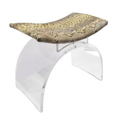 Chic Bench In Lucite With Python Seat 1970s - 1462778