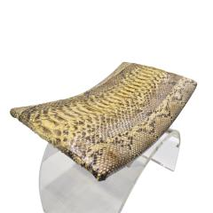 Chic Bench In Lucite With Python Seat 1970s - 1462780