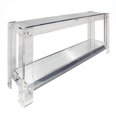 Chic Console Table in Lucite with Mirror Tops 1970s - 1112701