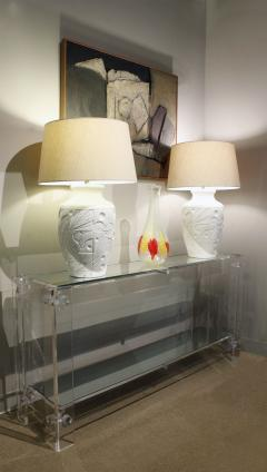 Chic Console Table in Lucite with Mirror Tops 1970s - 1112708