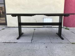 Chic Ebonized Slate Tile Topped Danish Dining Table - 325723