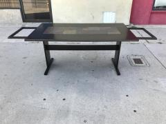 Chic Ebonized Slate Tile Topped Danish Dining Table - 325725