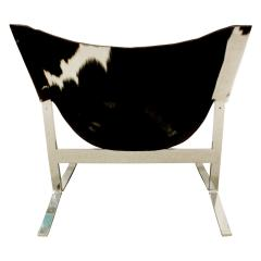 Chic Pair of Sling Chairs in Steel with Cow Hides 1963 - 509519