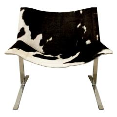Chic Pair of Sling Chairs in Steel with Cow Hides 1963 - 509524