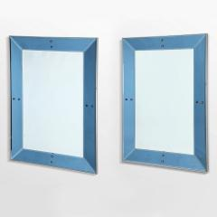 Chic Pair of large blue mirrors - 1514888