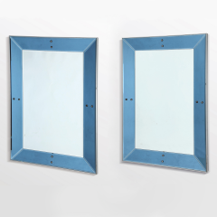 Chic Pair of large blue mirrors - 1514889