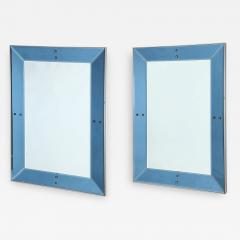 Chic Pair of large blue mirrors - 1515084