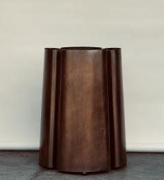 Chic Patinated Bronze and Brass French 1970s Pedestal Table Base - 1406446