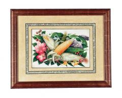 China Trade Watercolor and Gouache Set of Twelve Paintings of Fruit and Flowers - 1917110