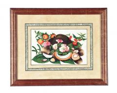 China Trade Watercolor and Gouache Set of Twelve Paintings of Fruit and Flowers - 1917127