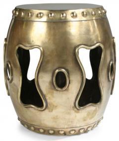 Chinese Brass Drum Garden Table - 774760
