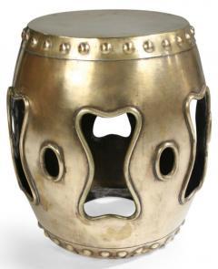 Chinese Brass Drum Garden Table - 774761
