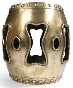 Chinese Brass Drum Garden Table - 774762