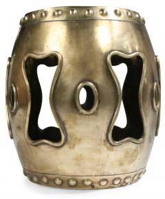 Chinese Brass Drum Garden Table - 774763