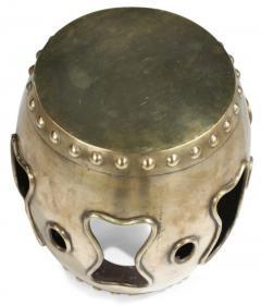 Chinese Brass Drum Garden Table - 774764