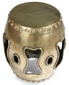 Chinese Brass Drum Garden Table - 774766