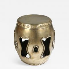 Chinese Brass Drum Garden Table - 777259