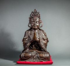 Chinese Bronze Sculpture of a Seated Buddha - 1920207