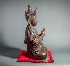 Chinese Bronze Sculpture of a Seated Buddha - 1920214