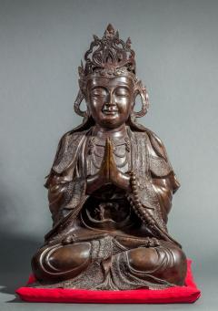 Chinese Bronze Sculpture of a Seated Buddha - 1920245