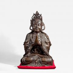 Chinese Bronze Sculpture of a Seated Buddha - 1921164