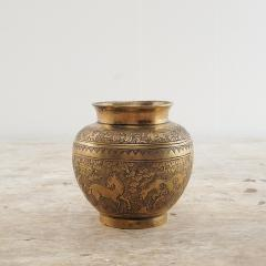Chinese Bronze Vase Decorated with Horses - 2141253
