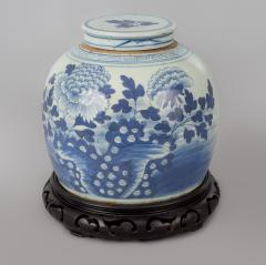 Chinese Canton Blue and White Squat Vase - 789055