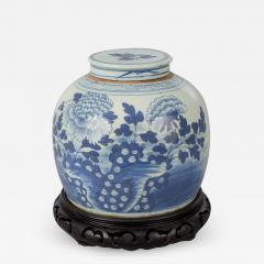 Chinese Canton Blue and White Squat Vase - 791176