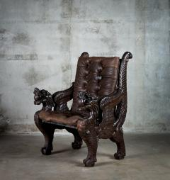 Chinese Carved Dragon Armchair - 648368