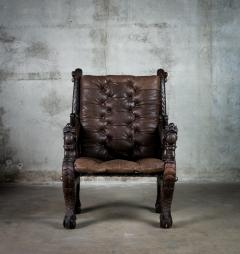 Chinese Carved Dragon Armchair - 648369