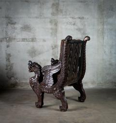 Chinese Carved Dragon Armchair - 648370
