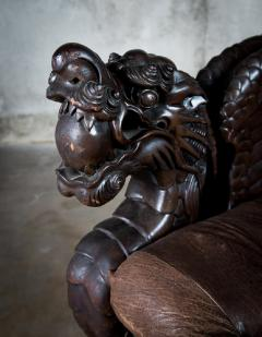 Chinese Carved Dragon Armchair - 648372