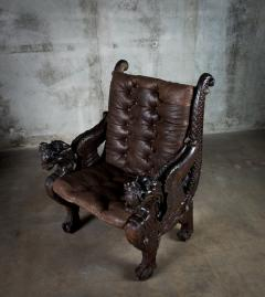 Chinese Carved Dragon Armchair - 648373