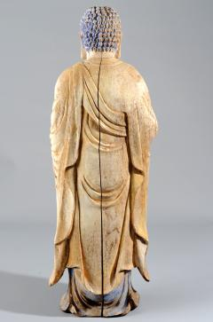 Chinese Carved Wood Teaching Buddha in Ming Style - 1220588