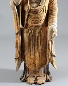 Chinese Carved Wood Teaching Buddha in Ming Style - 1220590