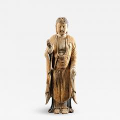 Chinese Carved Wood Teaching Buddha in Ming Style - 1221135