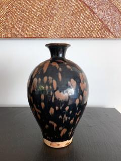 Chinese Cizhou Ceramic Vase with Russet Splash Glaze - 1201927