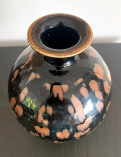 Chinese Cizhou Ceramic Vase with Russet Splash Glaze - 1201931