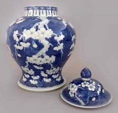 Chinese Export Blue and White Prunus Vase and Lid - 865369