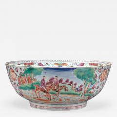 Chinese Export Bowl with Hunt Scenes - 679568