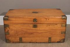 Chinese Export Camphorwod Sea Chest or Campaign Trunk - 271571