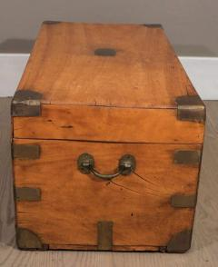 Chinese Export Camphorwod Sea Chest or Campaign Trunk - 271574