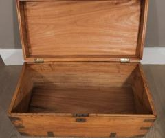 Chinese Export Camphorwod Sea Chest or Campaign Trunk - 271575