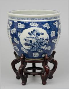 Chinese Export Jardiniere or Fish Bowl on Stand - 144819