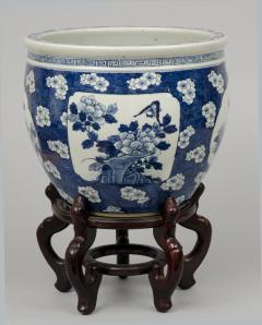 Chinese Export Jardiniere or Fish Bowl on Stand - 144827