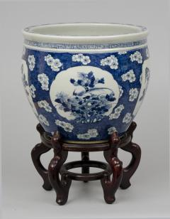 Chinese Export Jardiniere or Fish Bowl on Stand - 144828