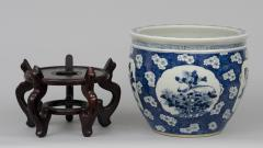 Chinese Export Jardiniere or Fish Bowl on Stand - 144832