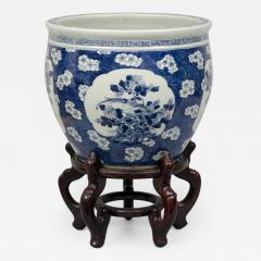 Chinese Export Jardiniere or Fish Bowl on Stand - 145280